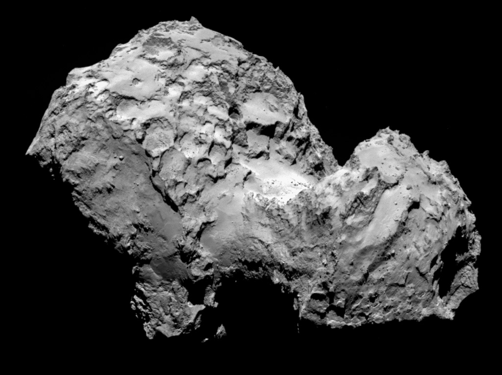 Photo of Comet 67P/Churyumov-Gerasimenko by Rosetta Spacecraft
