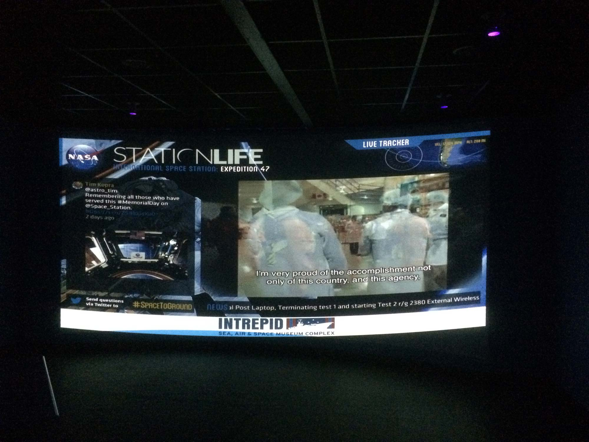 Life on the Space Station Beamed Into NYC Museum