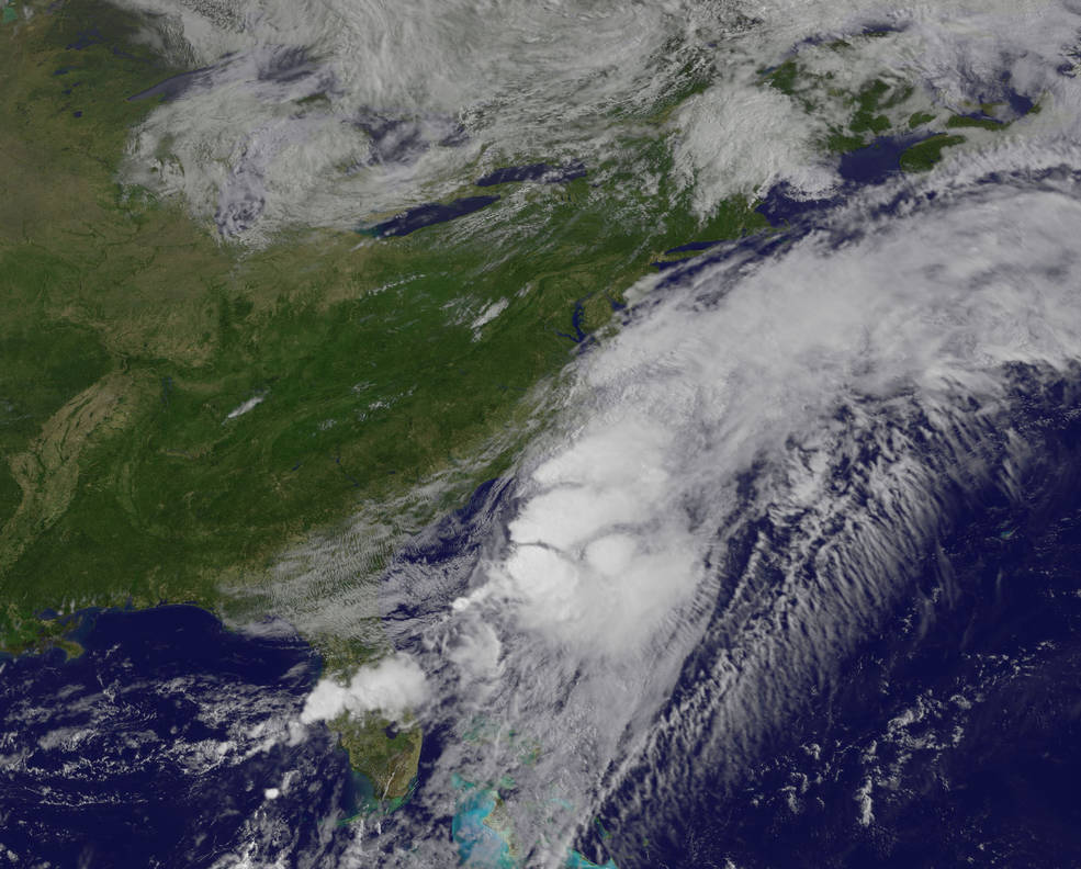 Tropical Storm Colin in the Atlantic Ocean