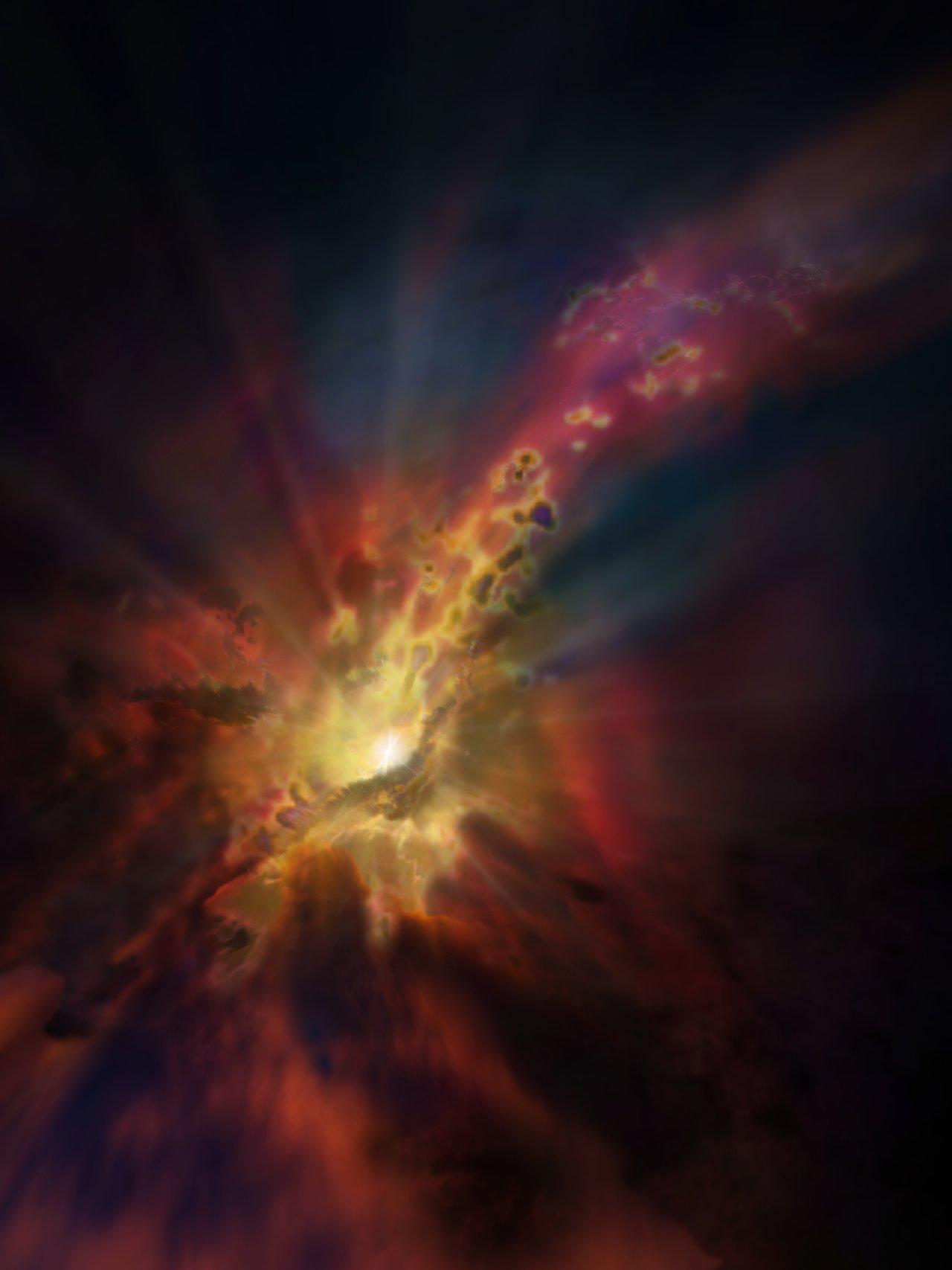 Monster Black Hole Caught Feeding On Clumpy, Cloudy 'Rain'