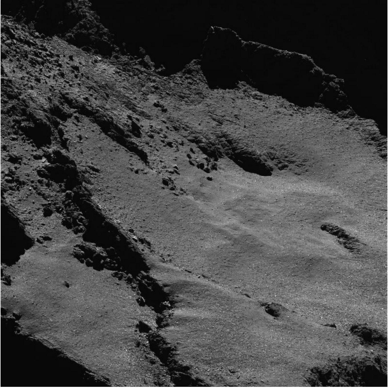 Comet 67P by Rosetta probe