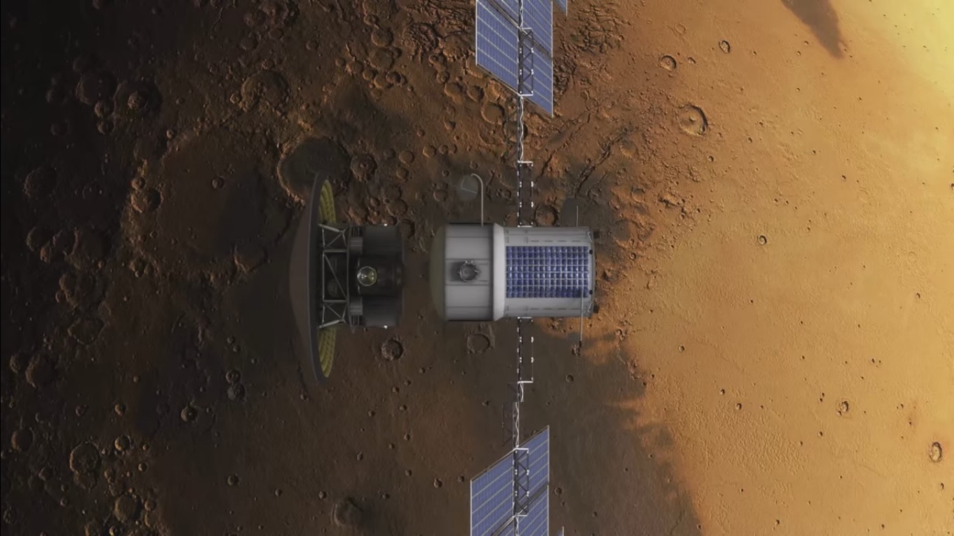 Spacecraft on Mars