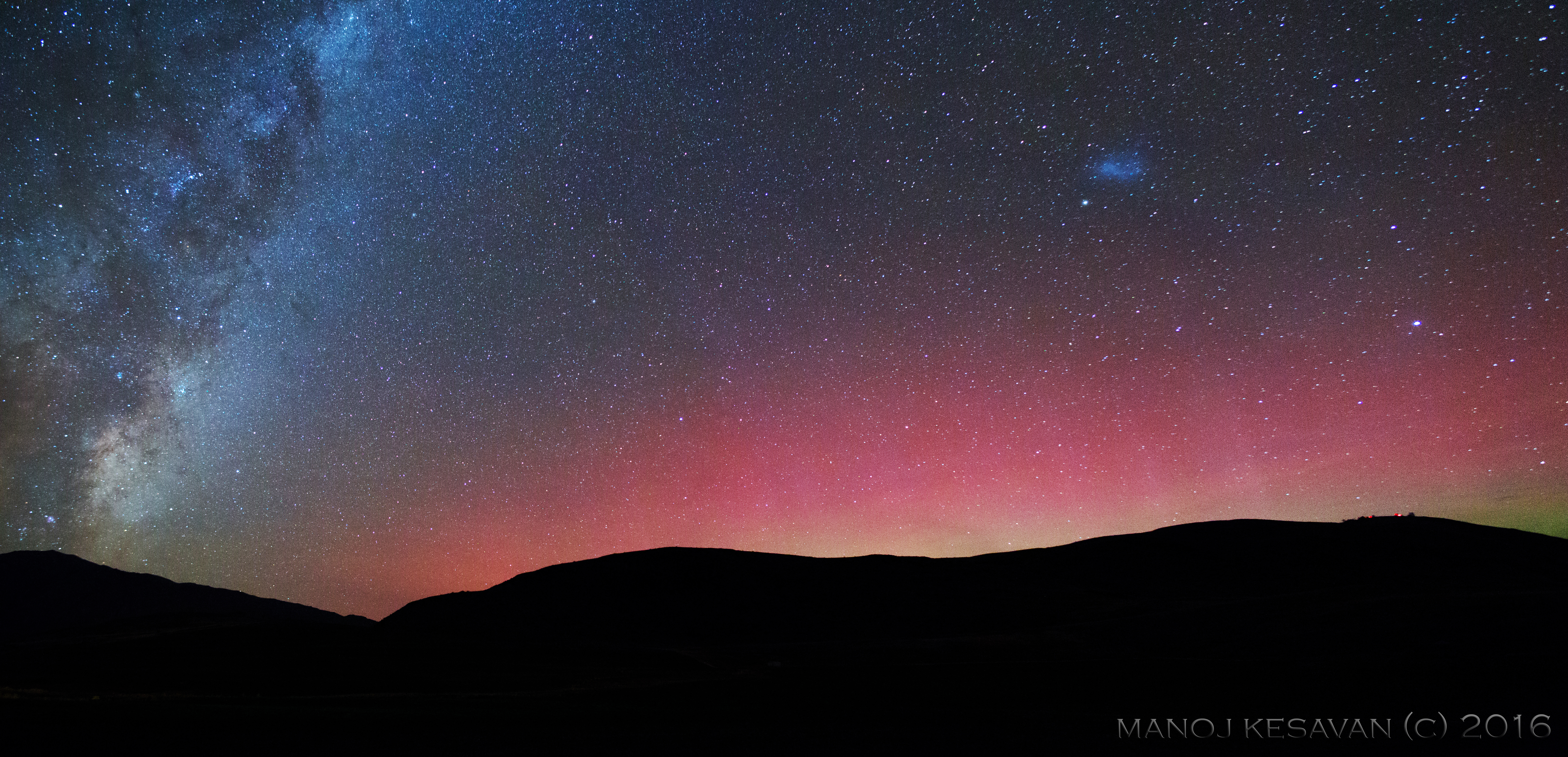 Wow! Surprise Storm Sets Scene for Skywatcher's First Southern Lights Shot