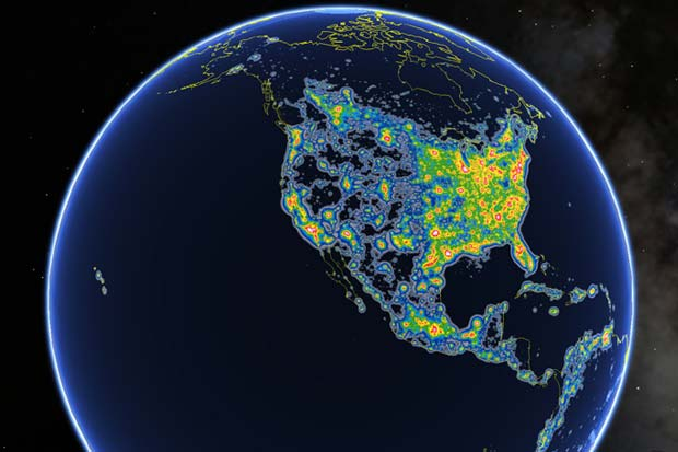 Milky Way Not Visible For Billions of Humans - Light Pollution Atlas Visualization