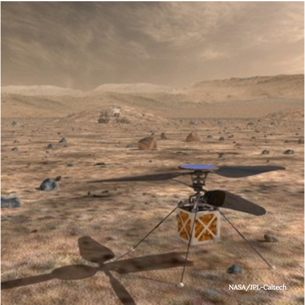 Mini-helicopter for Mars 2020 mission