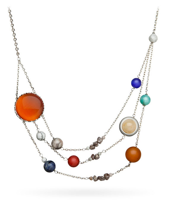 "Celebrate the solar system around your neck. <a href=""http://www.thinkgeek.com/product/itkv/?cpg=cj&ref=&CJURL=&AID=11555940&PID=7659223&CJID=4400298?&ICID=SPACE-gift-guide-2016"" rel=""nofollow"" target=""_blank"">Buy Solar Orbit Necklace</a>"
