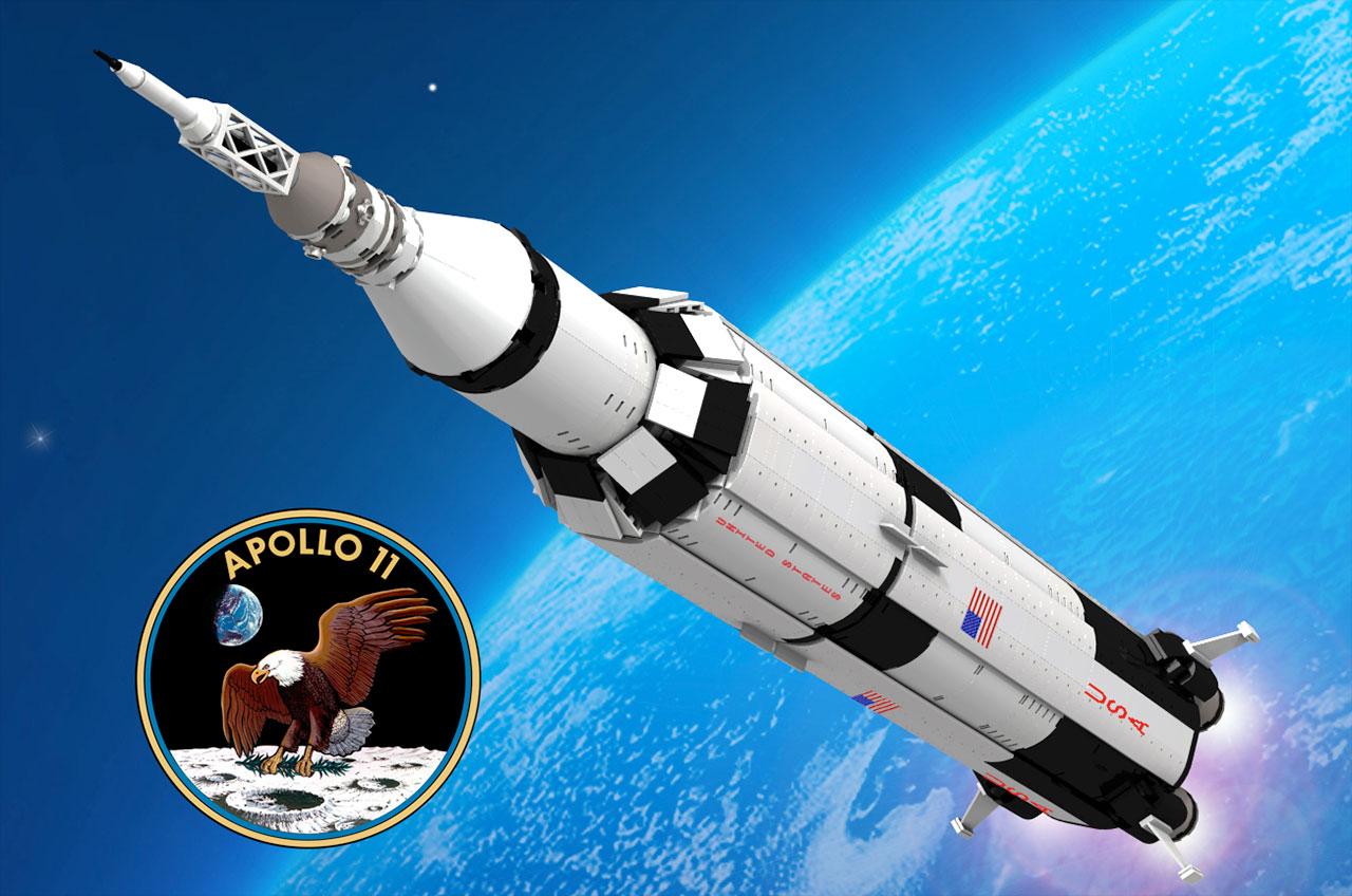 LEGO Apollo 11 Saturn V model