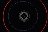 The orbits of all formerly famous circumbinary planets are shown as gray circles. Kepler 1647b's most incomparable circuit is a red circle.