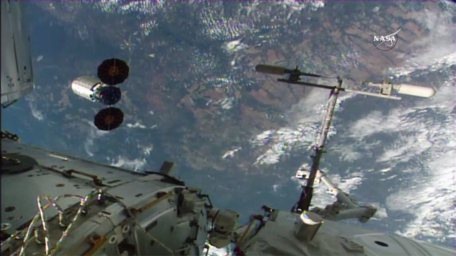 Cygnuss S.S. Rick Husband Leaves International Space Station