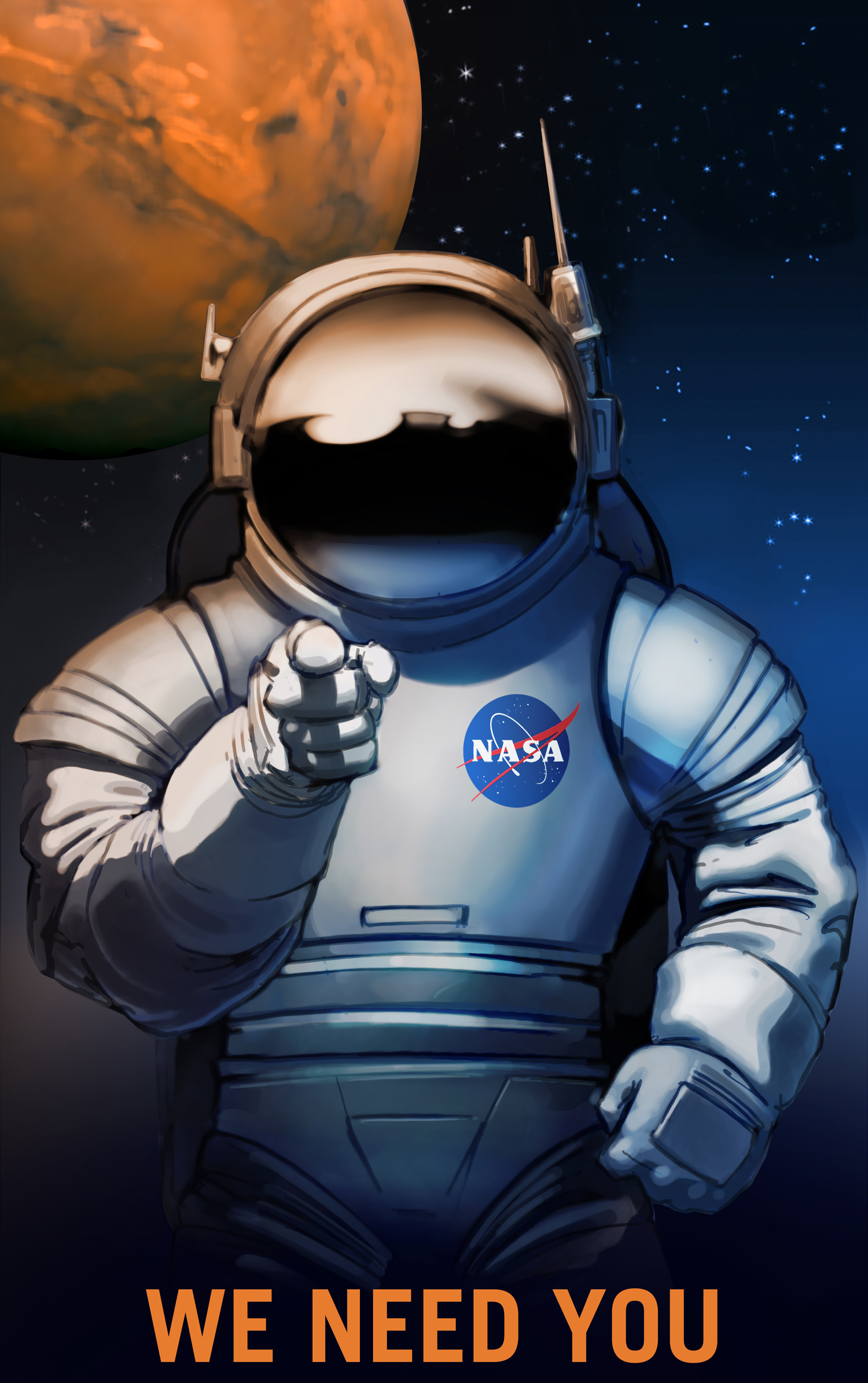 nasa's journey to mars wanted posters