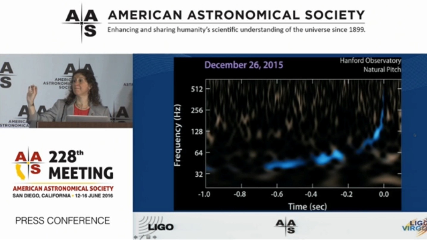 Chirp! Here's What the New Gravitational-Wave Signal Sounds Like (Video)