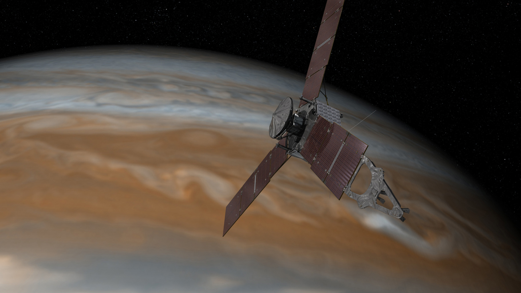 Jupiter Orbital Insertion: Juno's Dive Into the Unknown