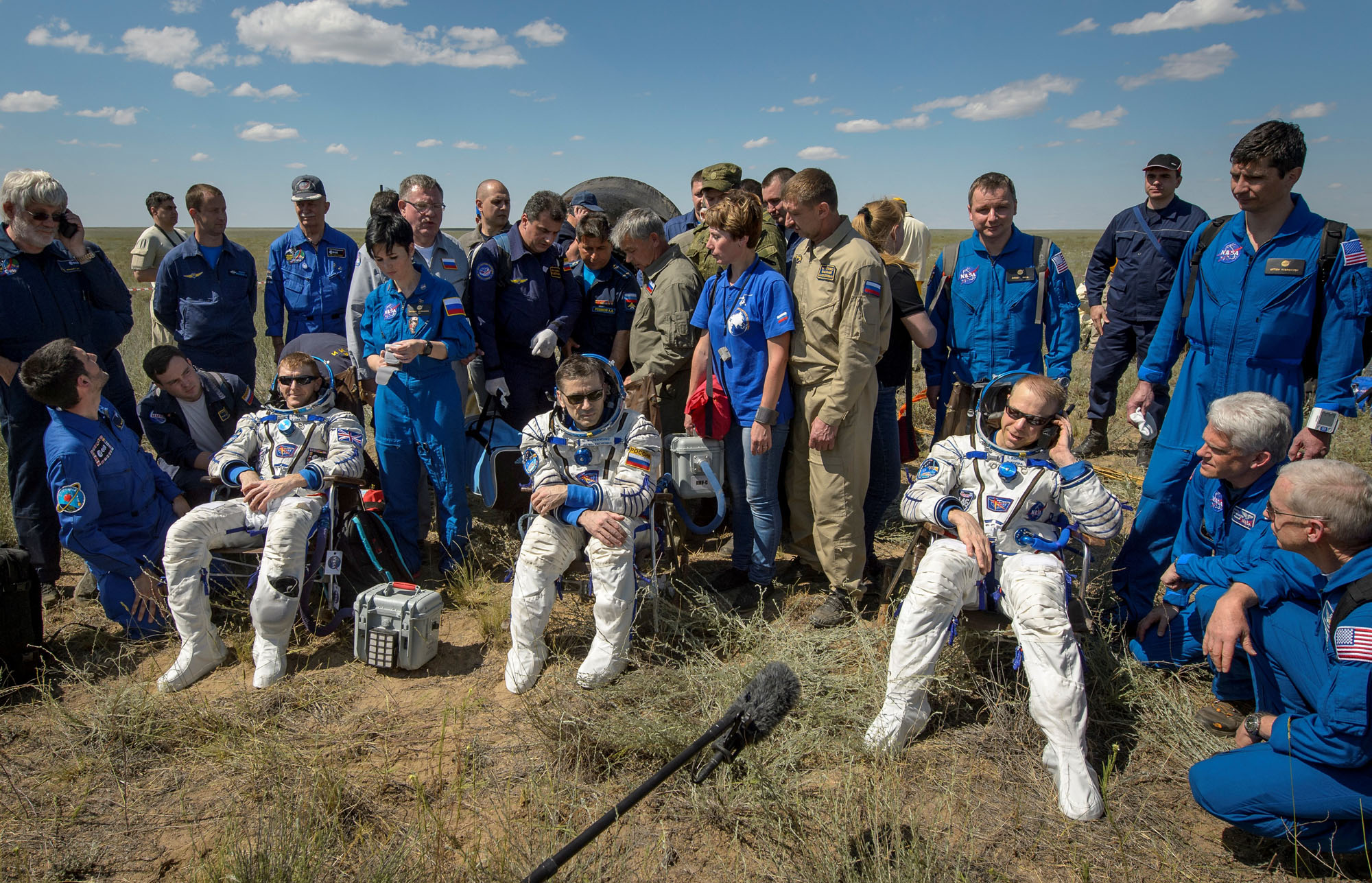 Space Station Crew Home for Father's Day