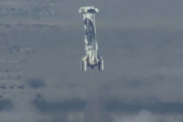 Touchdown! Blue Origin Rocket Lands After Launching Capsule | Video