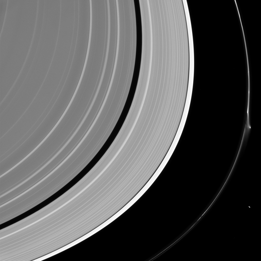 Commotion in Saturn's Rings: New Photo Reveals Ink-Stain Smudge