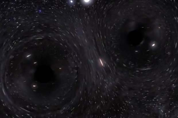 60 Black Holes And 500 Stars 'Mosh' To Form Black Hole Binary | Simulation