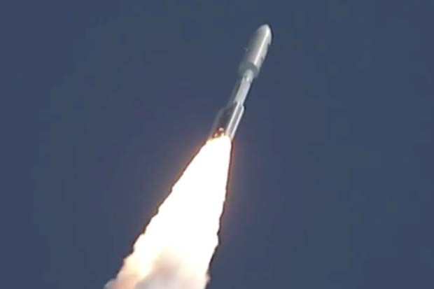 Blastoff! Atlas V Rocket Launches Navy Satellite | Video