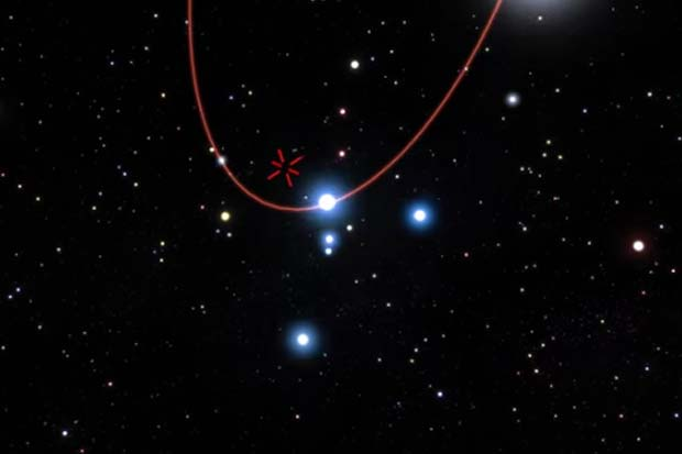 Star Passes Close To Milky Way's Supermassive Black Hole - Artist Impression Video