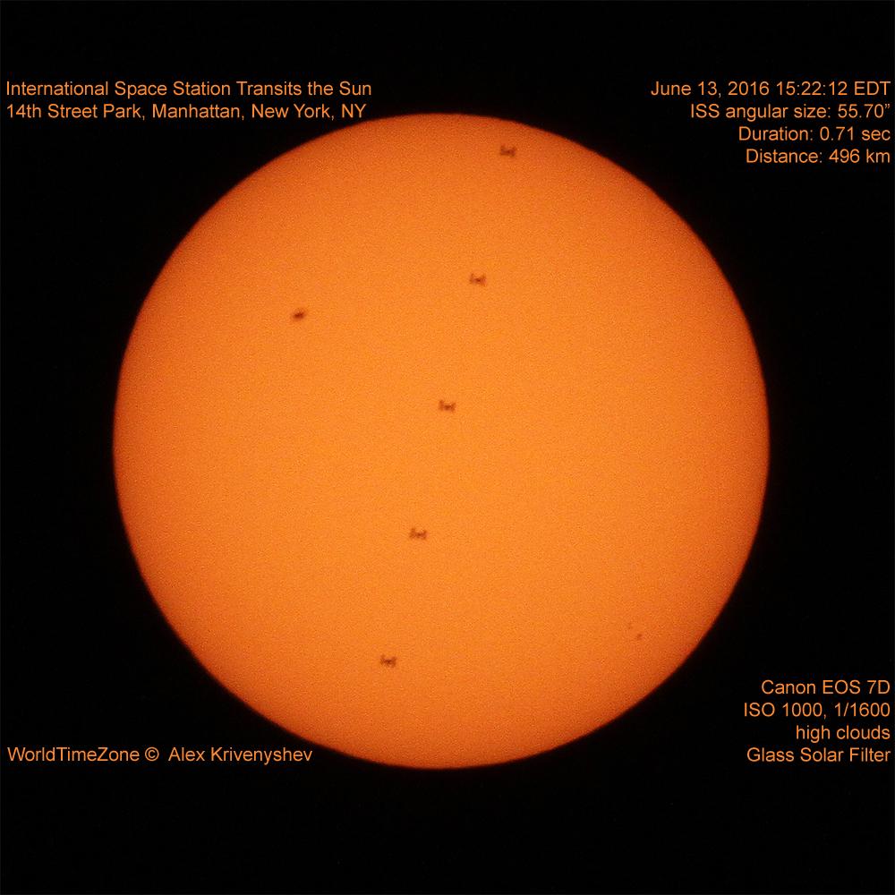 Space Station Crosses Sun's Face, June 2016