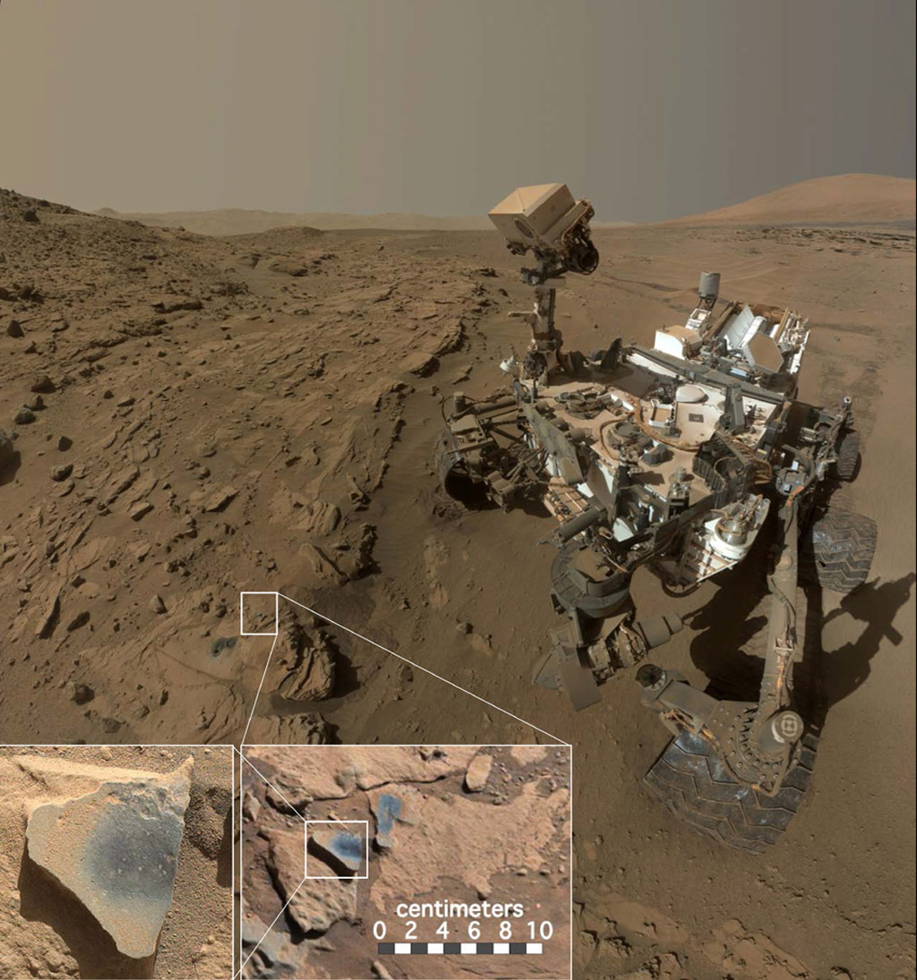 Mars Rover Curiosity at 'Windjana' Site
