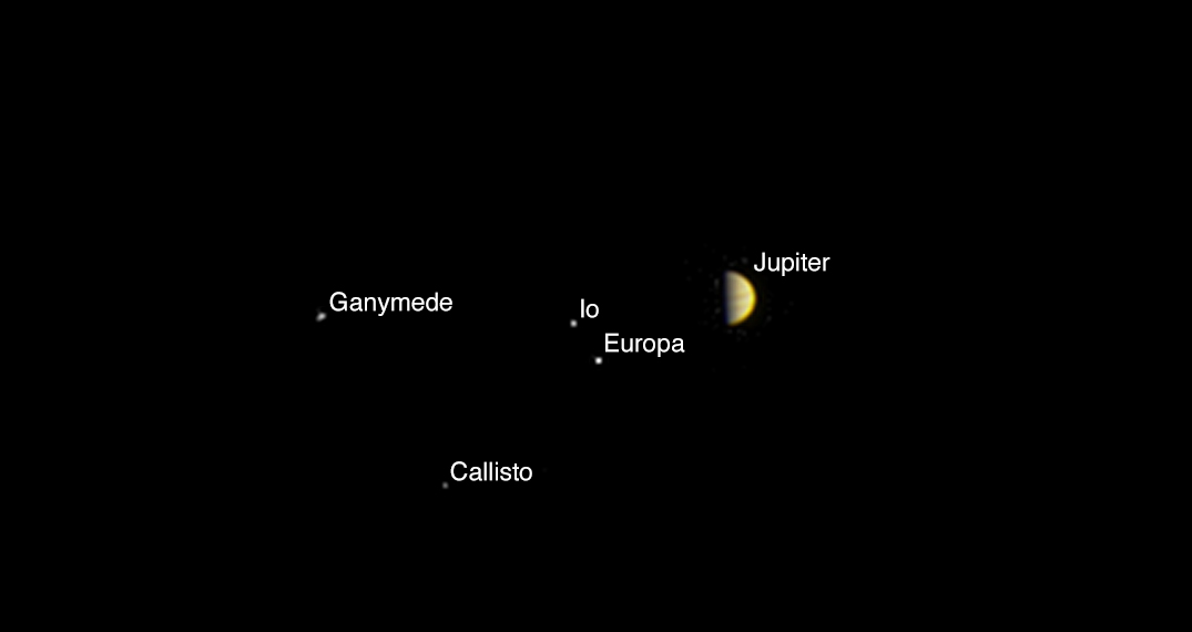 Juno Spacecraft Spies Jupiter, Galilean Moons