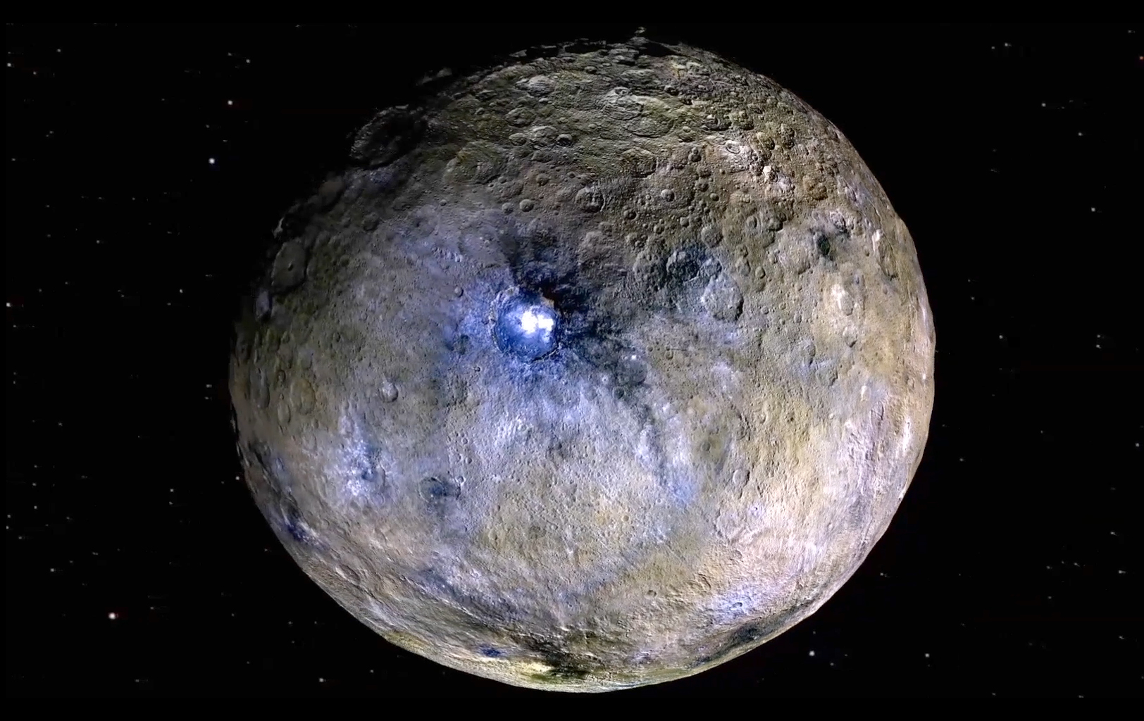 False-Color View of Dwarf Planet Ceres