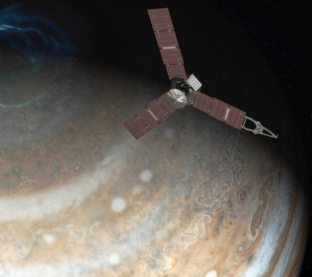 Juno Zooms Above Jupiter's North Pole