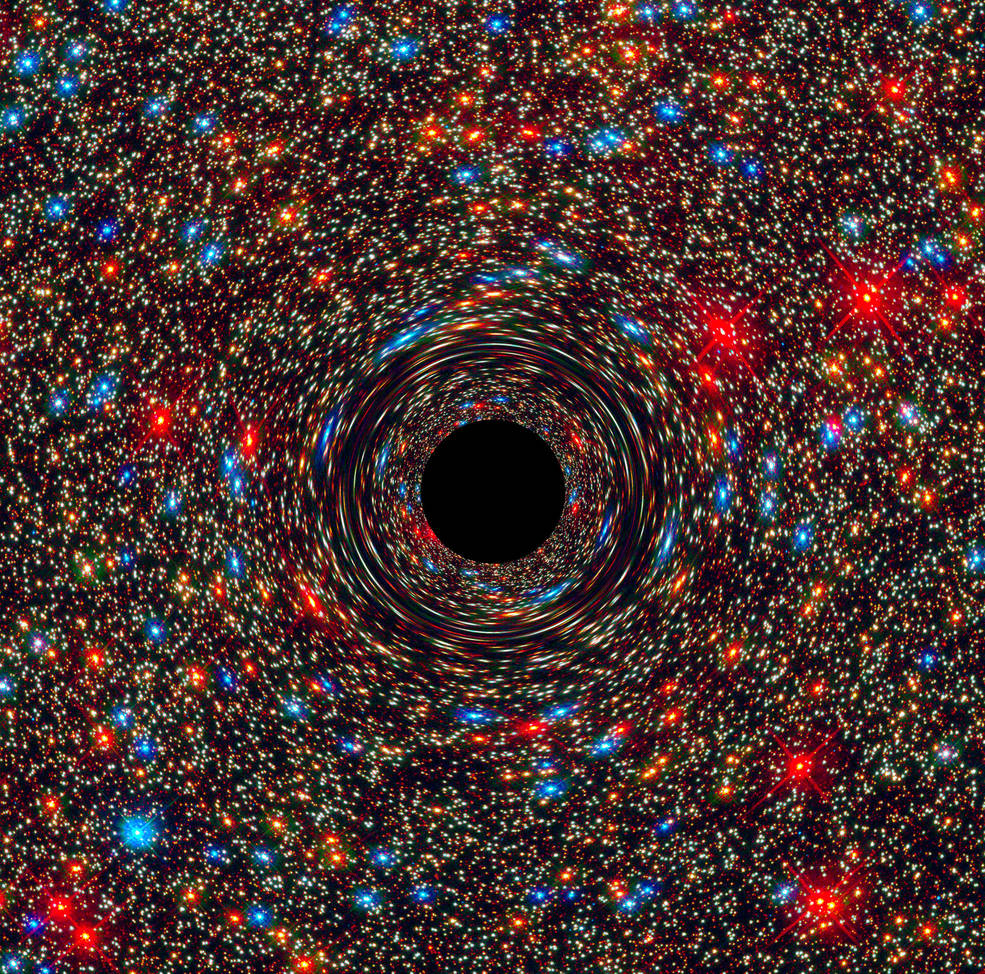 Supermassive black hole simulation