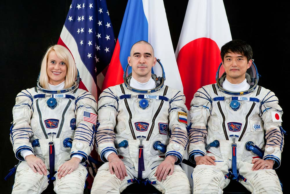 Astronaut Kate Rubins with expedition 48 crew