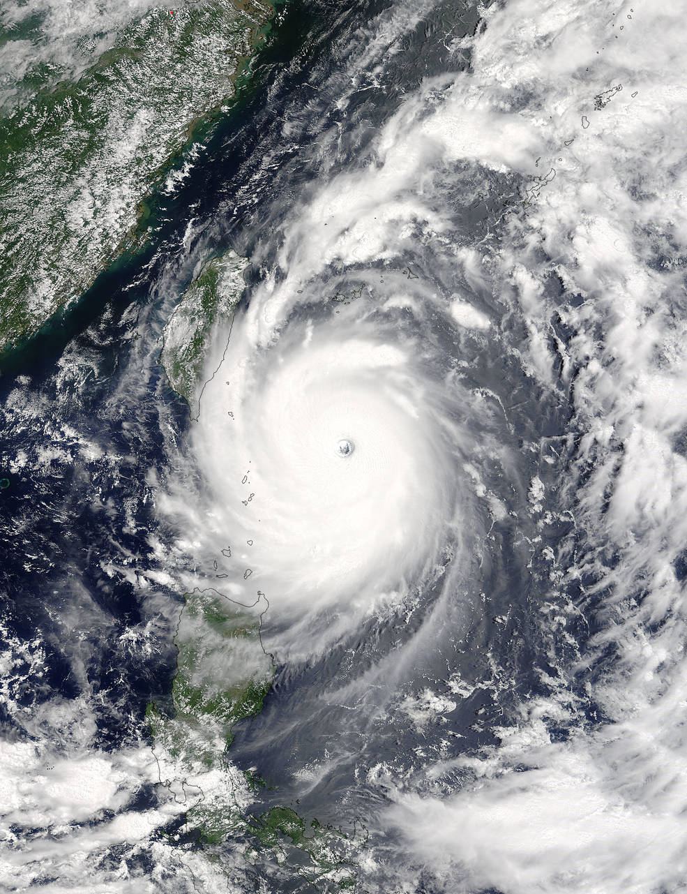 Super Typhoon Nepartak: View of NASA's Terra Satellite