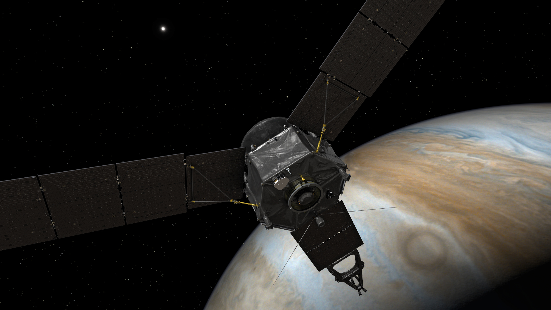 Wakey Wakey! Juno Spacecraft Turns on Science Gear at Jupiter