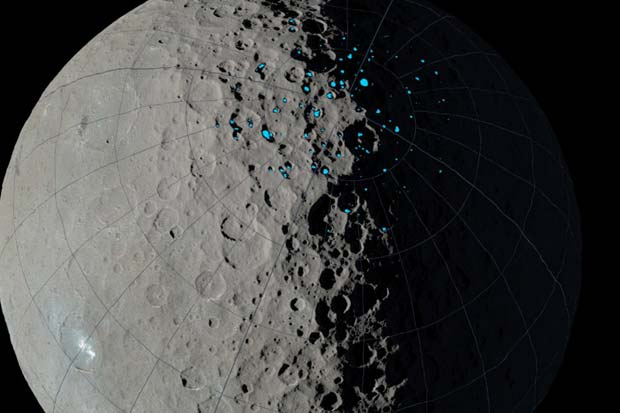 Dwarf Planet Ceres' Shadowed Craters Could Harbor Water Ice | Video