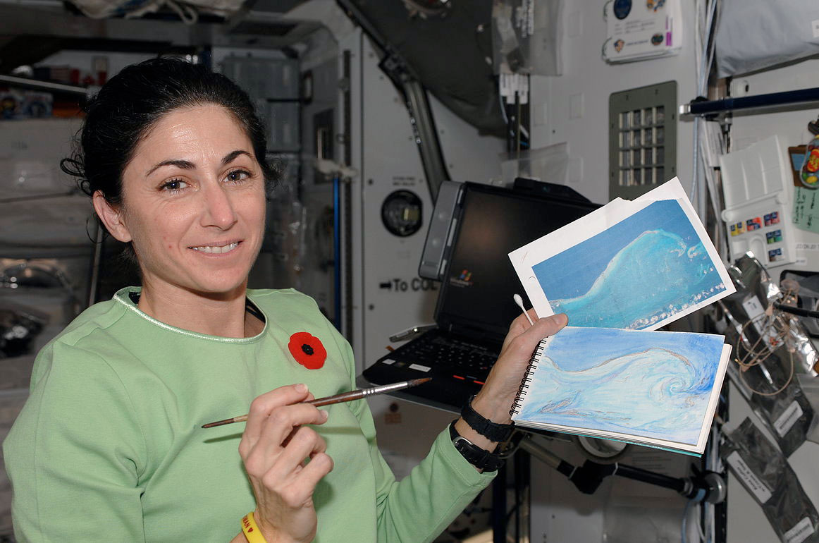 Astronaut-Turned-Artist Nicole Stott Shares View from Space in Paintings