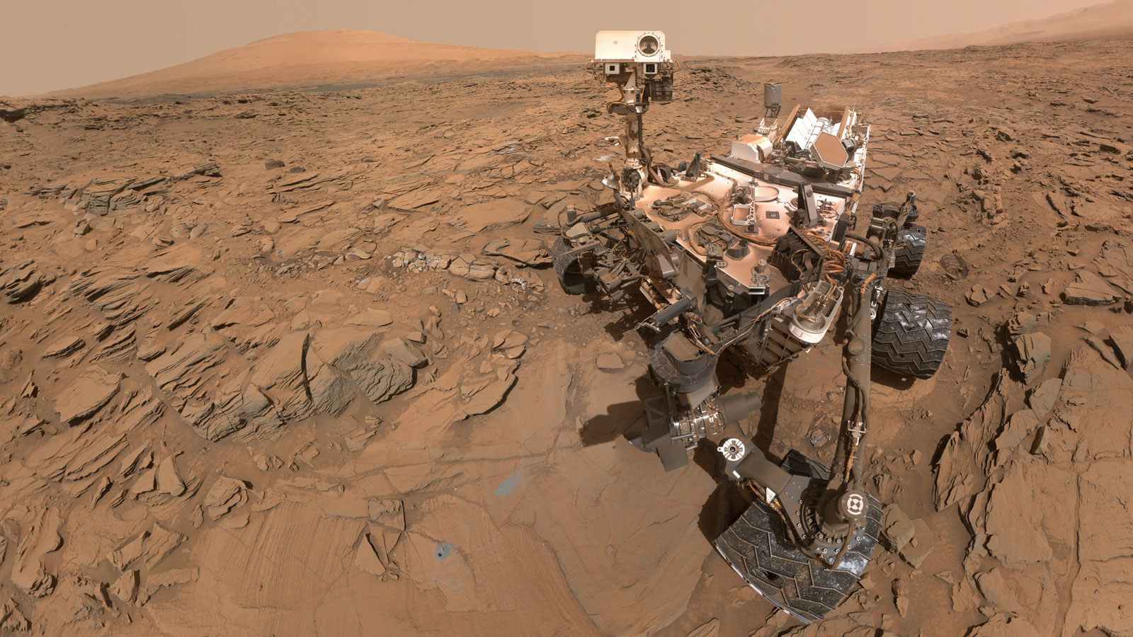Mars Rover Curiosity at Drill Site, May 2016