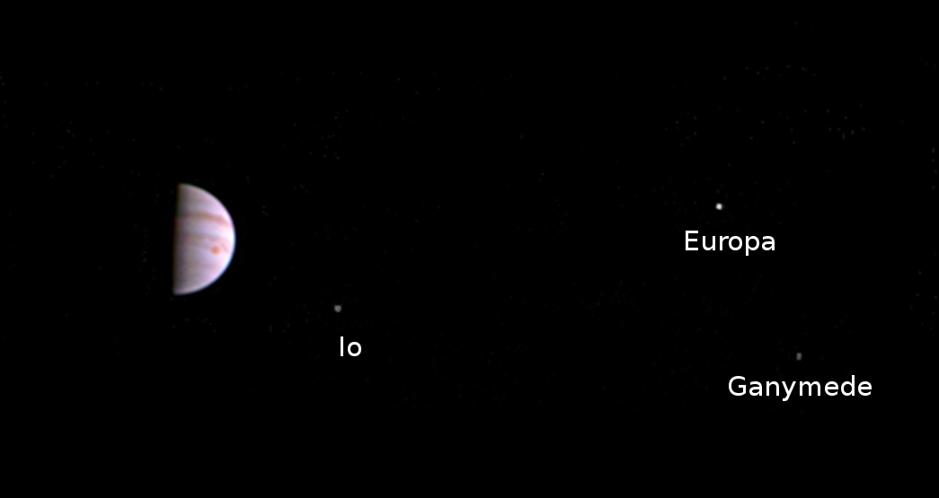 Juno's First View from Jupiter Orbit