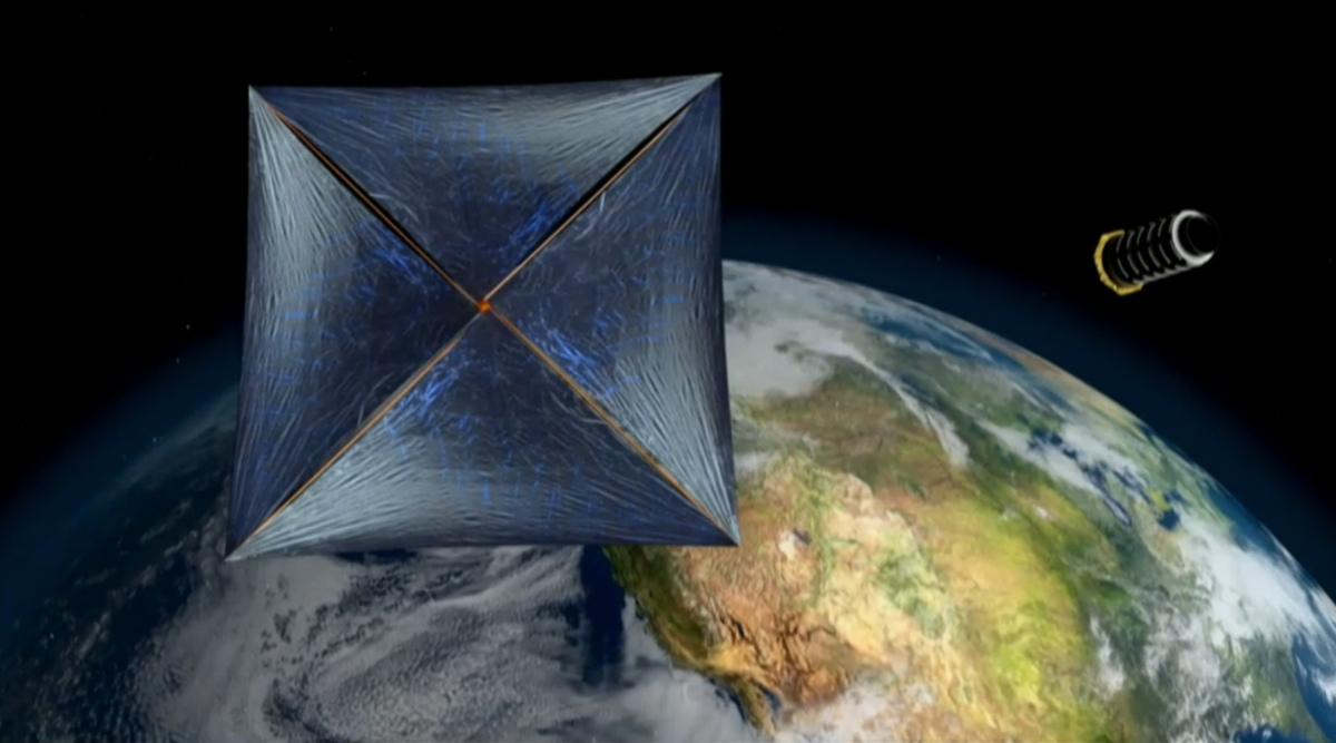 Laser-Sailing 'Nanosat'