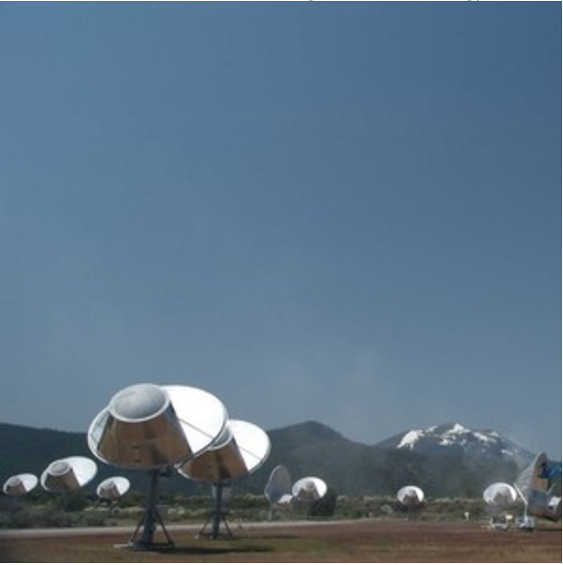 Seti Institute's Allen Telescope Array in California