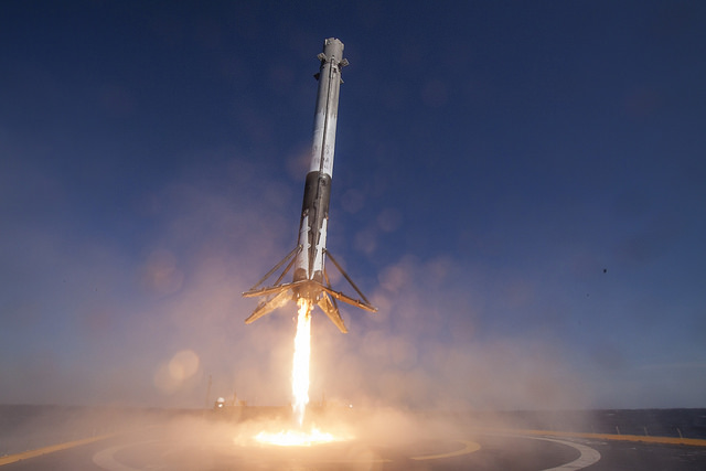 Falcon 9 Rocket Lands on Drone Ship, April 8, 2016
