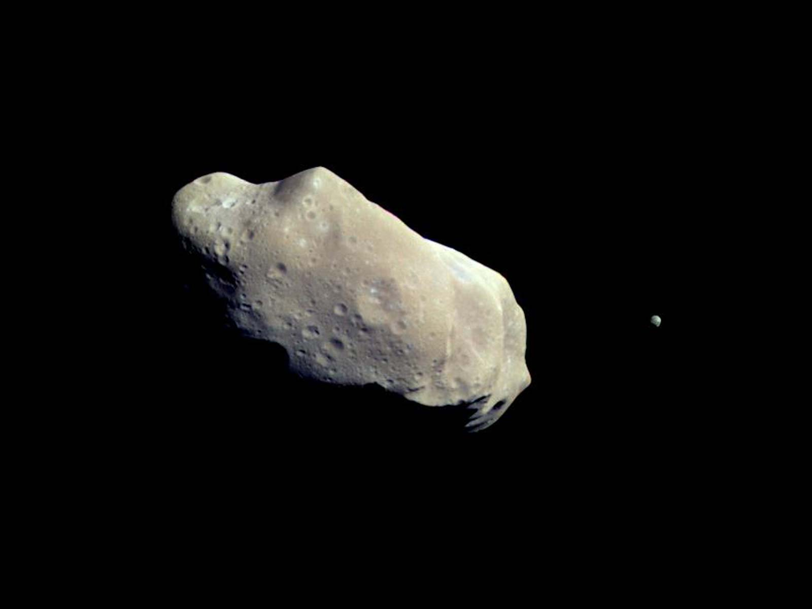 An Asteroid and Its Moon | Space Wallpaper
