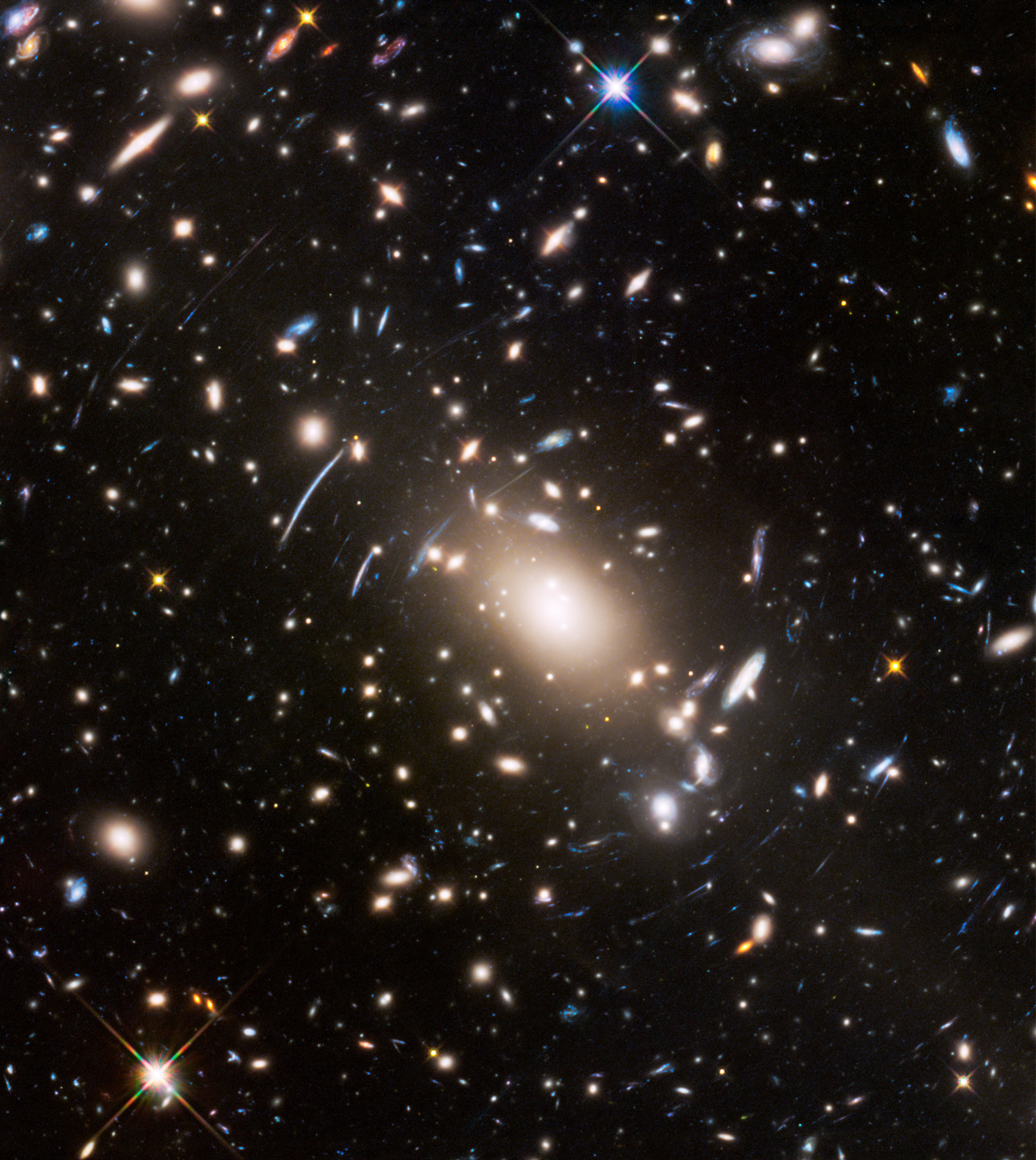 "Space ... the final frontier, as seen by the Hubble Space Telescope. This stunning Frontier Fields view of the Abell S1063 was unveiled by astronomers on July 21, 2016 just ahead of the release of ""Star Trek Beyond,"" the latest film in the Star Trek franc"