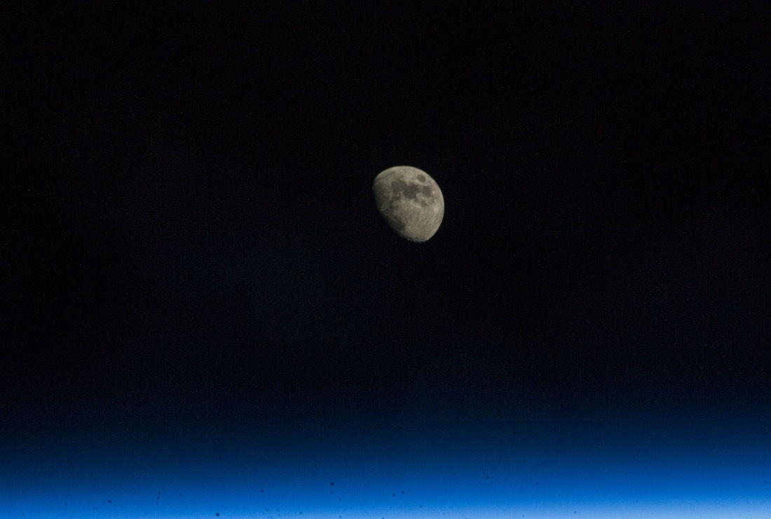 A waxing moon seen from the International Space Station on Nov. 12, 2013. ISS crewmembers would likely miss this stunning view if our only satellite were to vanish overnight.
