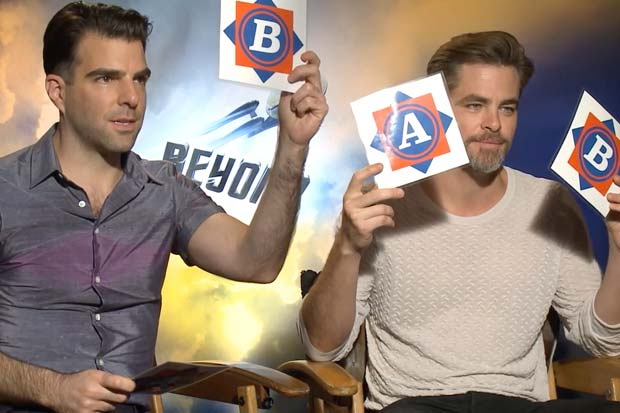 Star Trek's Zachary Quinto and Chris Pine Play NASA Knowledge Game | Video