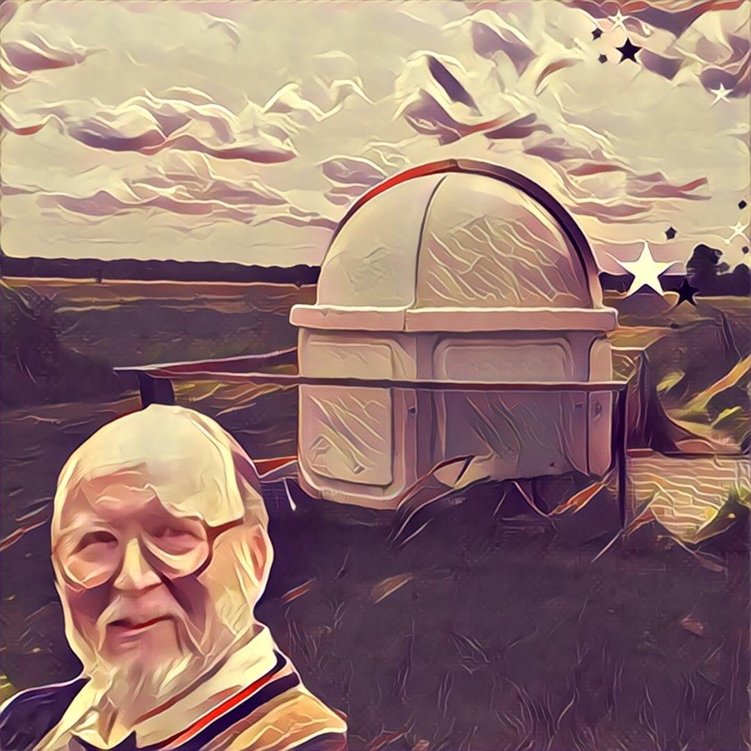 Portrait of Geoff Gaherty at Foxmead Observatory