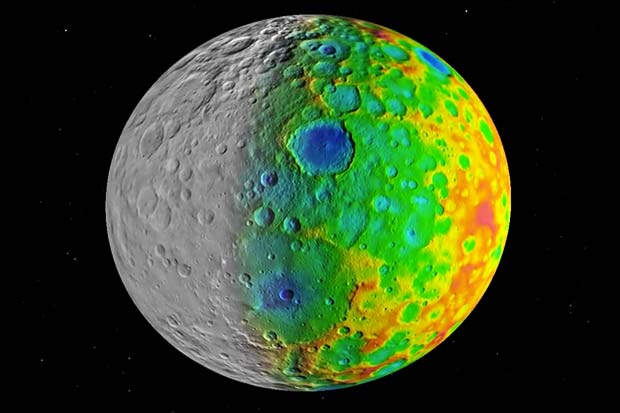 Dwarf Planet Ceres' Crater Sizes Make It A Cosmic 'Oddball' | Video