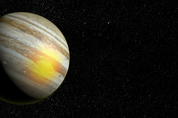 Observations show that Jupiter's upper atmosphere — above the Great Red Spot — is hundreds of degrees hotter than anywhere else on the planet.
