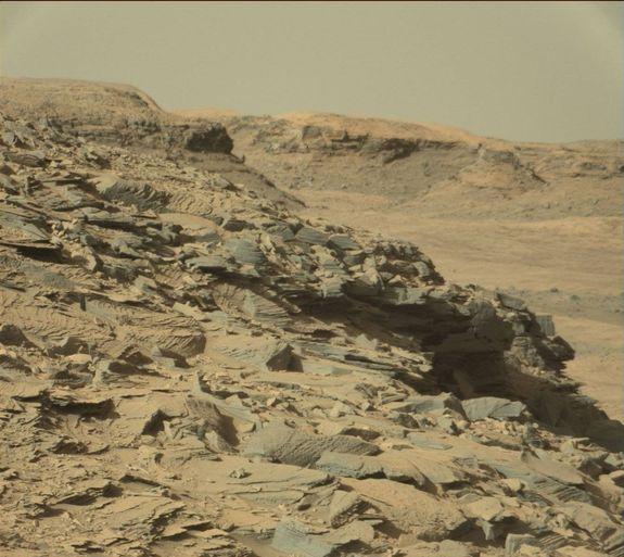 Taming a resource-rich Mars can assure that future inhabitants live long and prosper. This image was taken by NASA's Mars rover Curiosity on April 3, 2016.
