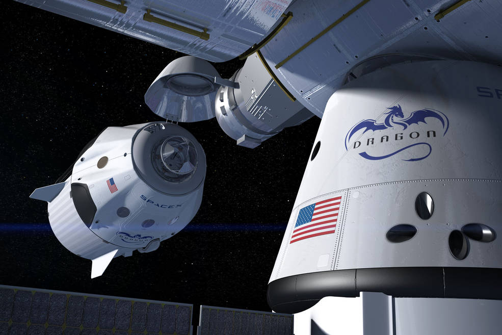 SpaceX's Crew Dragon Approaching ISS