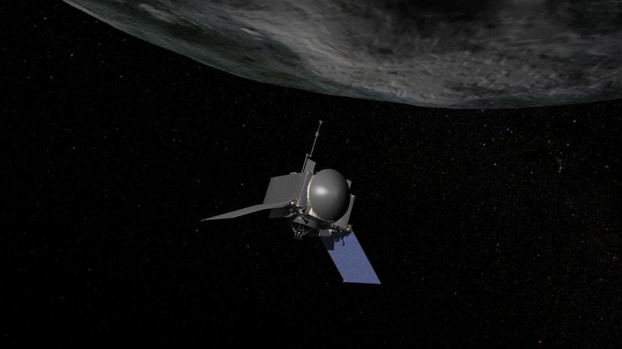 OSIRIS-REx at Asteroid Bennu: Artist's Illustration