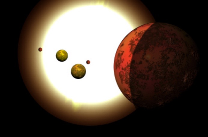 Artist's Illustration of Kepler-80 Planetary System
