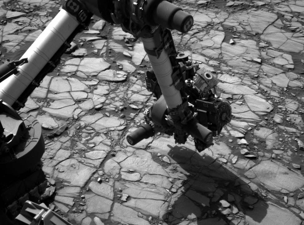 Mars Rover Curiosity Studies Rock Target 'Marimba'